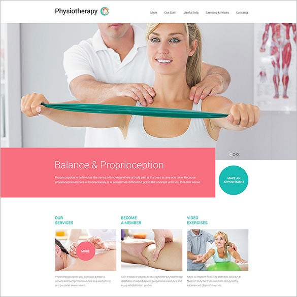 health html5 template for physiotherapy