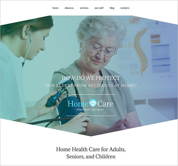 home care health html5 theme