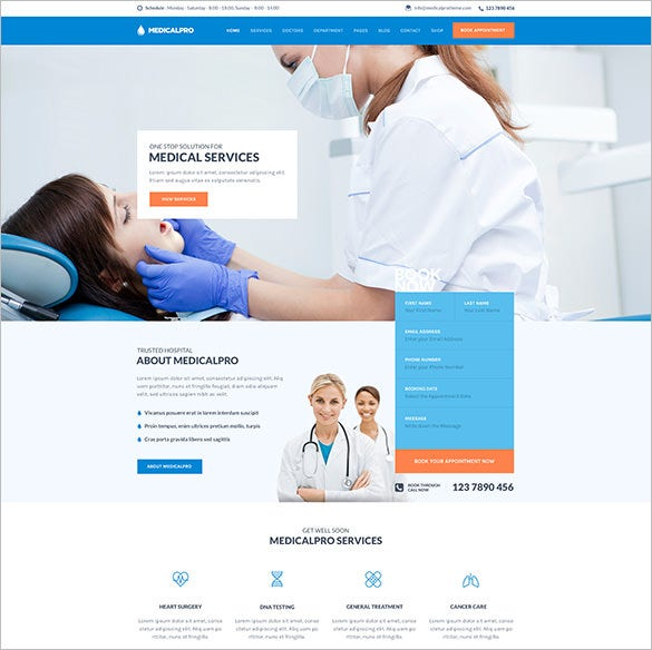 health and medical html template download