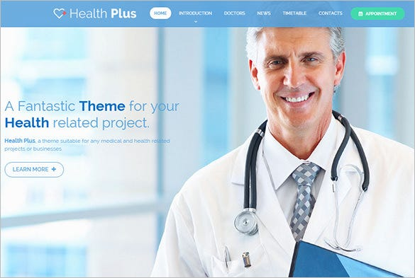 premium health clinic html template