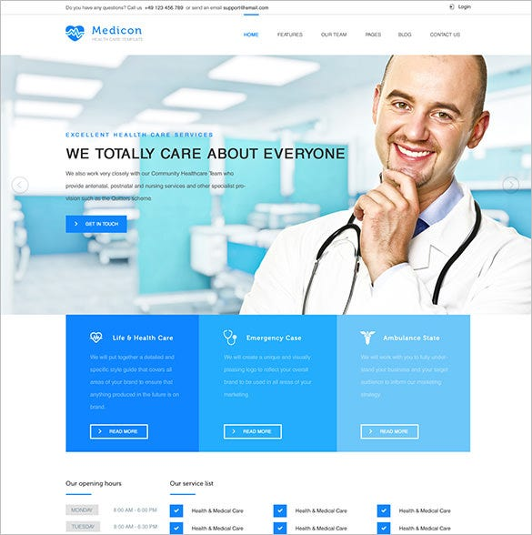 health and medical html template