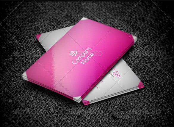 Pink Business Cards Free PSD EPS AI InDesign Word PDF - Indesign business card template free