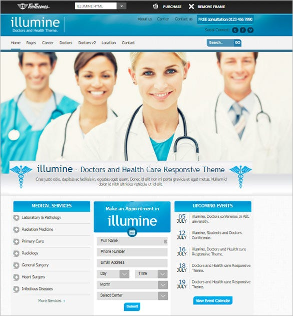 doctors health care bootstrap template