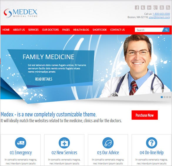 medical doctor and health bootstrap theme