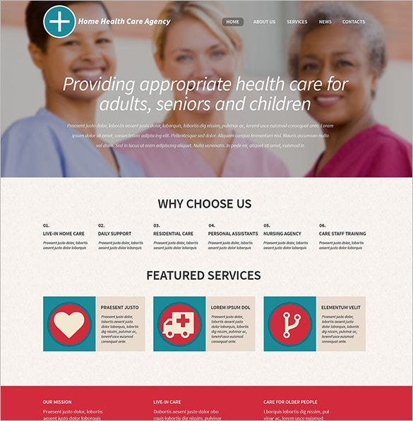 bootstrap theme for healthcare professionals