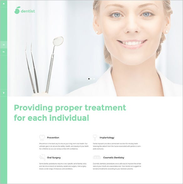 health php template for dentist