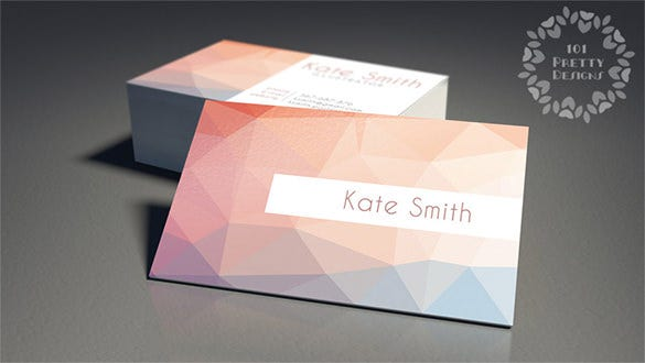Pink Business Cards Free PSD EPS AI InDesign Word PDF - Custom business card template