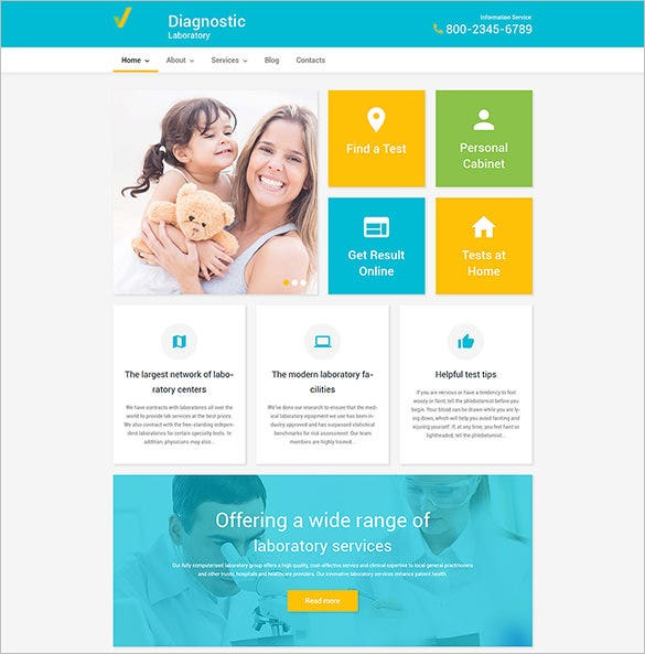 php theme for diagnostic laboratory