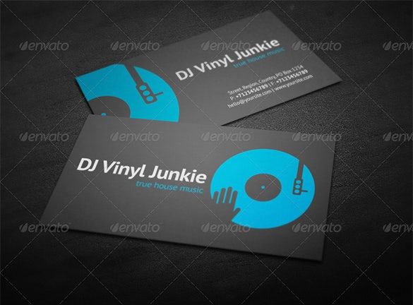 25 dj business cards free download free premium templates vinyl dj business card wajeb Gallery