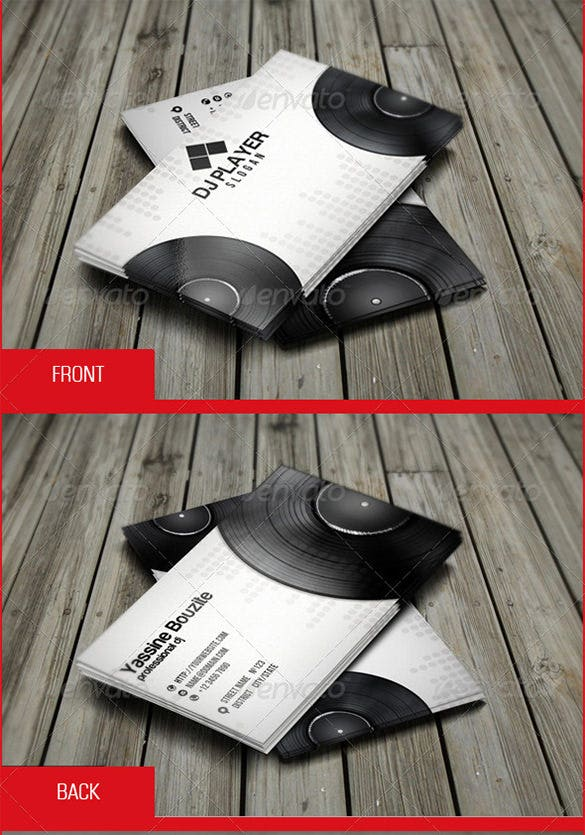 18 dj business cards free psd eps ai indesign word pdf format download free premium. Black Bedroom Furniture Sets. Home Design Ideas