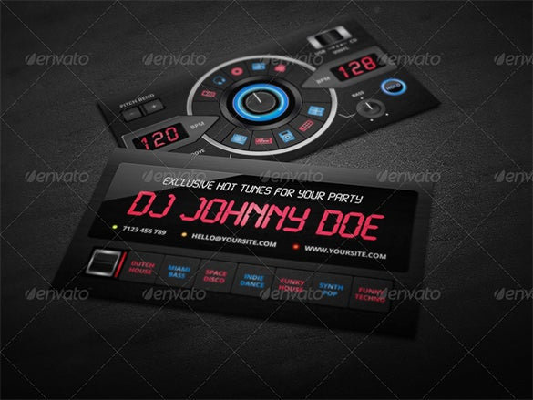 18  dj business cards  u2013 free psd  eps  ai  indesign  word