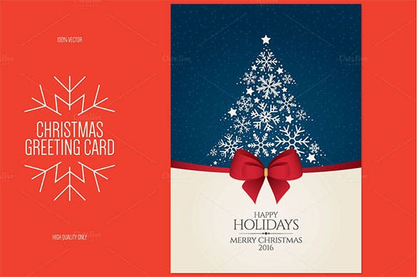 christmas and new year greeting card template eps format