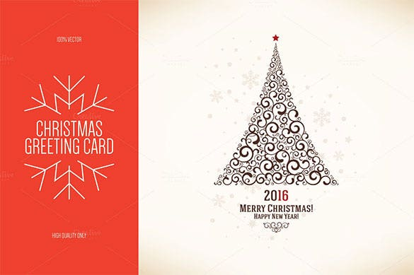 christmas and new year greeting card template premium eps