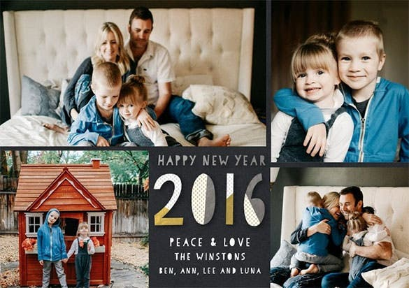 family happy new years cards happy patterns download