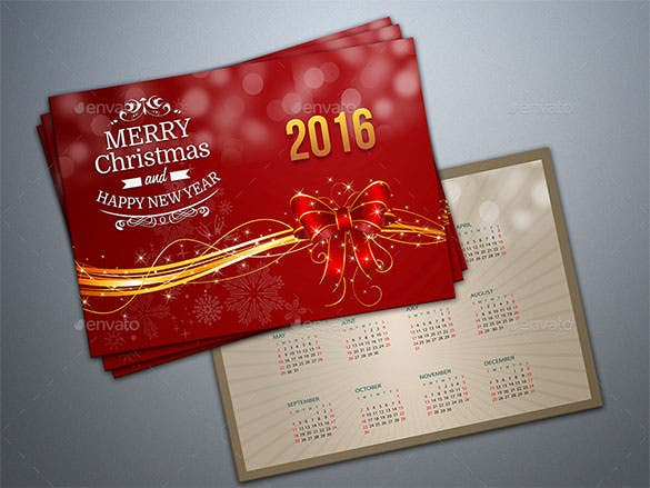 premium new year greeting card template photoshop psd