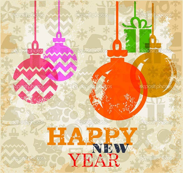 new year greeting card template eps download