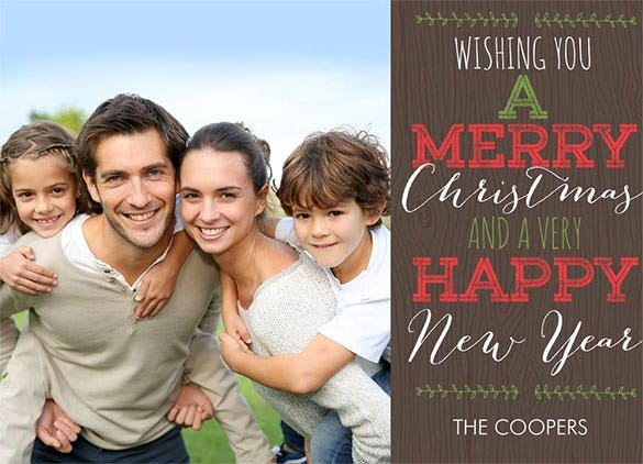 rustic christmas needles new year greeting download