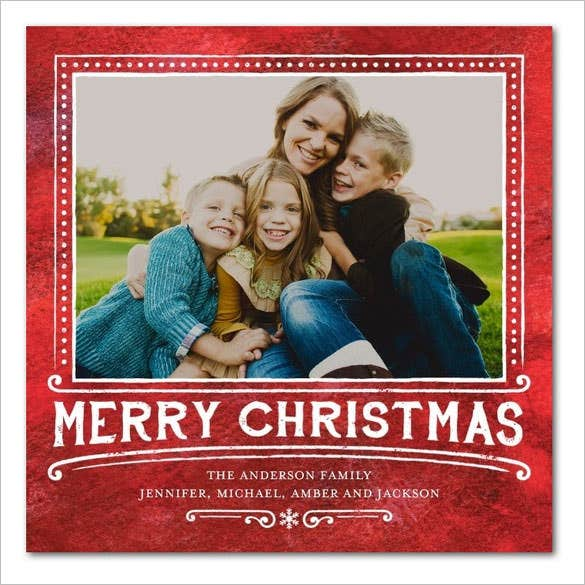 flat holiday photo greeting cards template