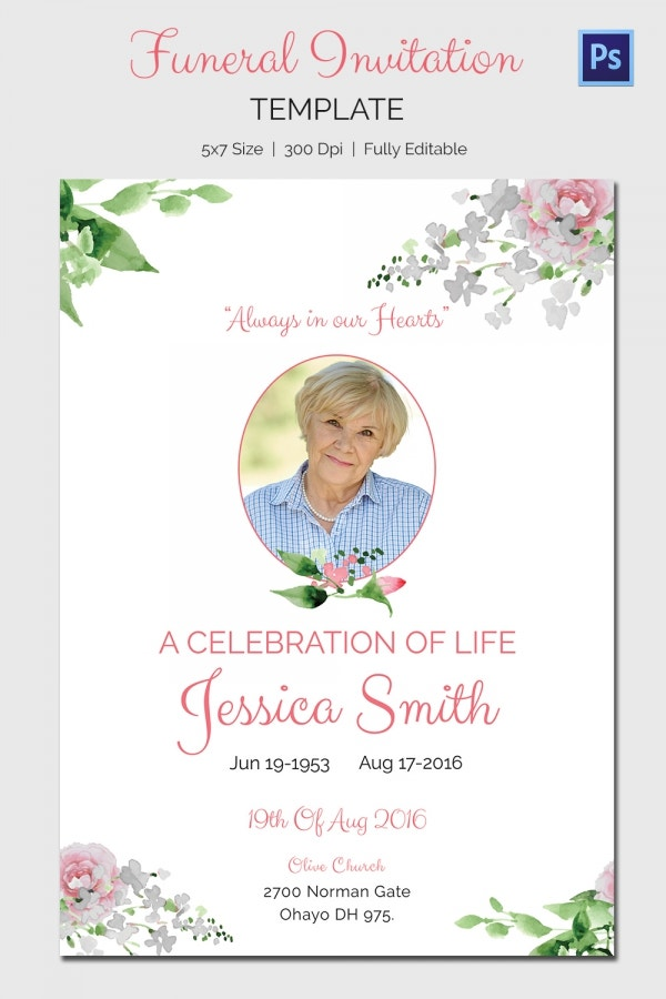 Obit Template   Word Psd Format Download  Free  Premium