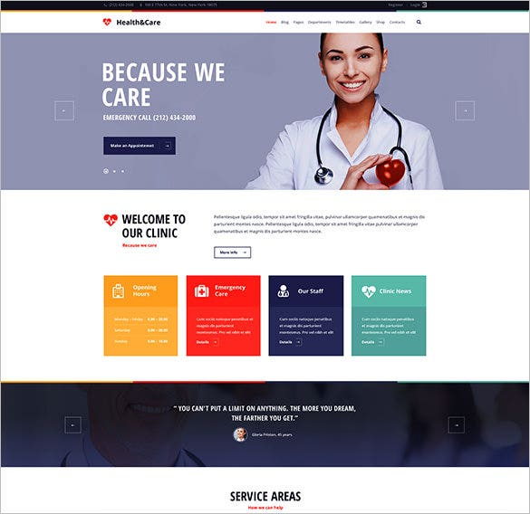 health care medical website theme