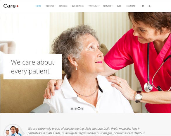 medical health website theme download