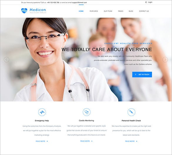 medicon health medical website theme