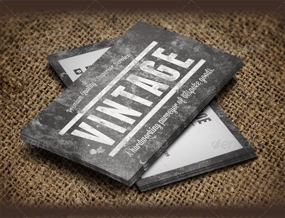 vintage grunge business cards