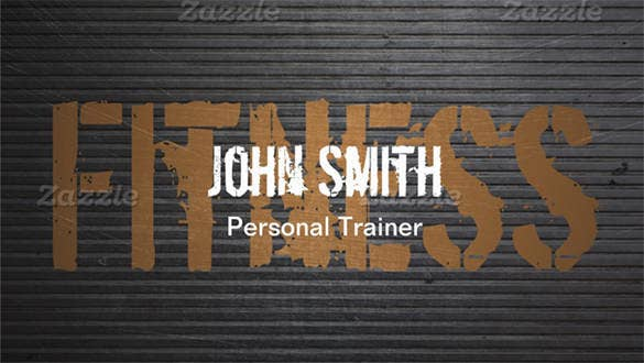 professional grunge metal personal trainer double sided standard business cards