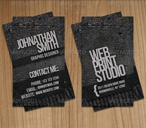 professional grunge business card