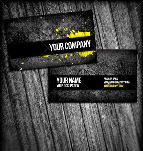 professional grunge business cards 5