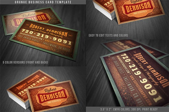 grunge business card template 02