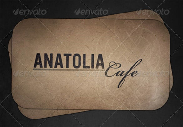 cafe grunge business card