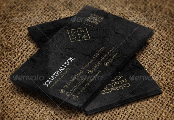 hardcore grunge business cards