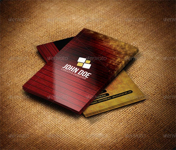 creative grunge business card