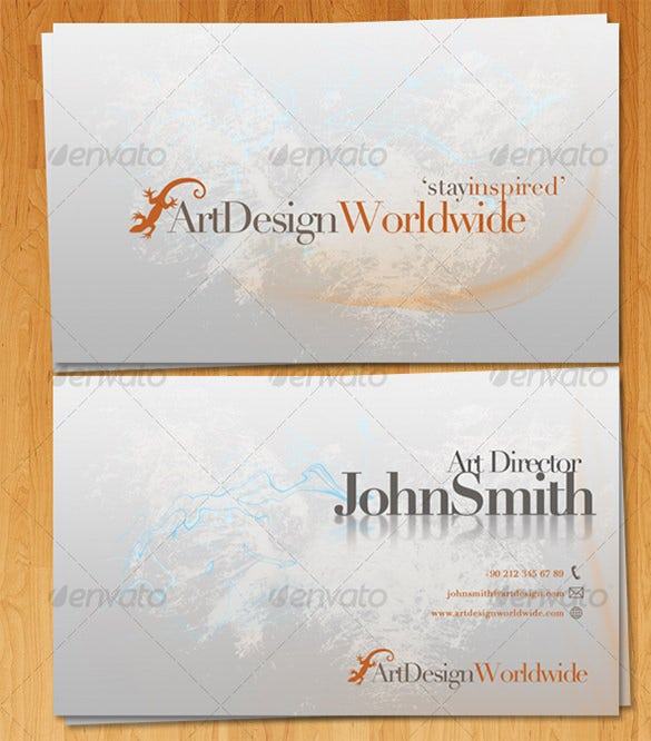 elegant grunge business card