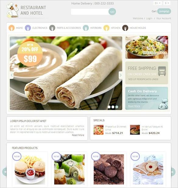 restaurant premium prestashop theme