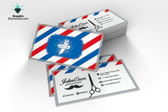 Barber business cards templates free choice image template design 20 barber business cards free psd eps ai indesign word pdf fbccfo Image collections