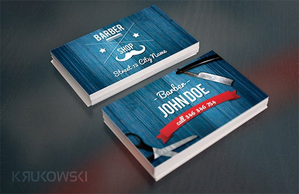 barber business card template 5