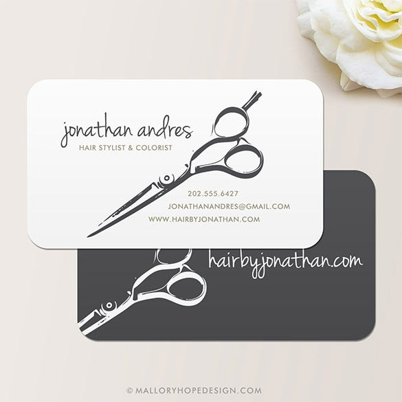 20 barber business cards free psd eps ai indesign for Hairdresser business card templates free