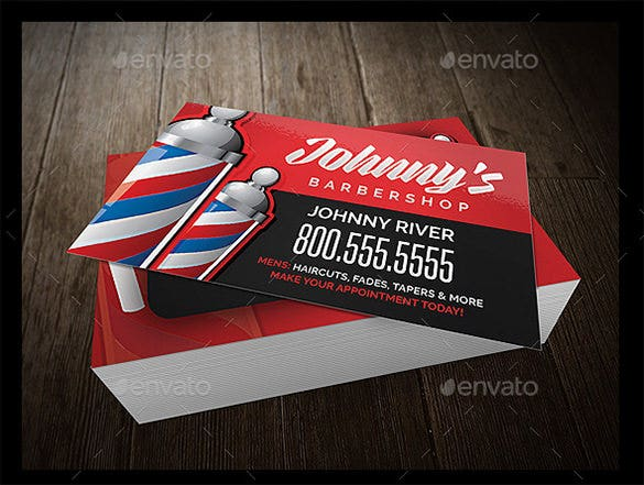21 barber business cards psd eps ai indesign free premium barbershop flyer business card template bundle fbccfo Gallery