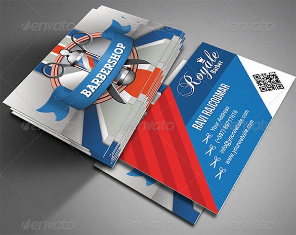 20 barber business cards free psd eps ai indesign word pdf the barbershop business card fbccfo Choice Image