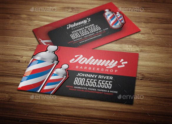 Barber Business Cards Free PSD EPS AI InDesign Word PDF Barber - Indesign business card template free