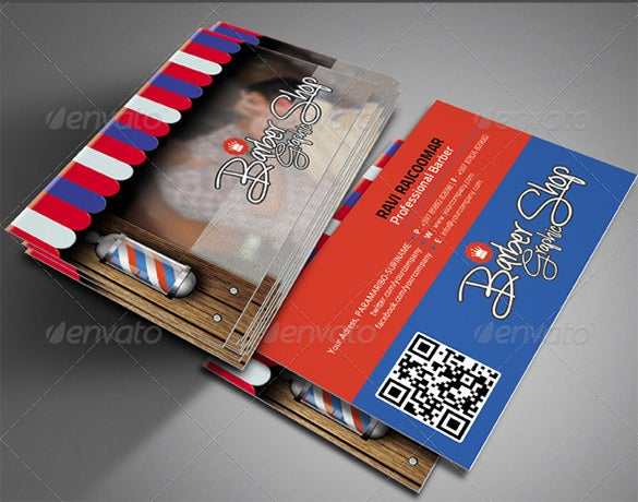 the barbershop business card vol