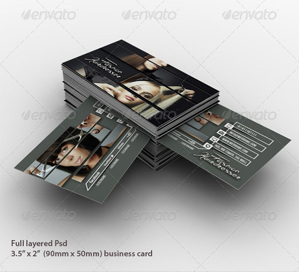 hairdresser salon business card