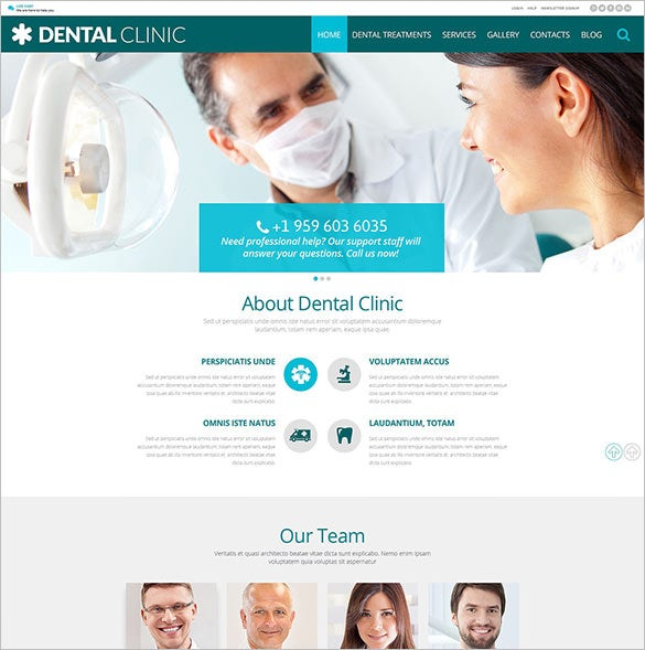 health psd template for dentist