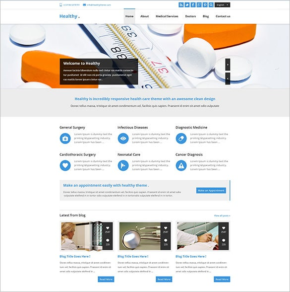 awesome health and medical psd template