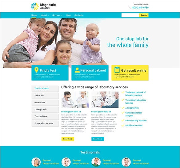 diagnostic laboratory psd template