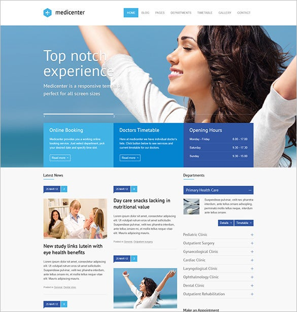 health care psd template