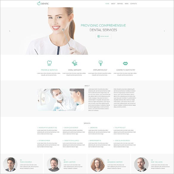 dentic psd template download