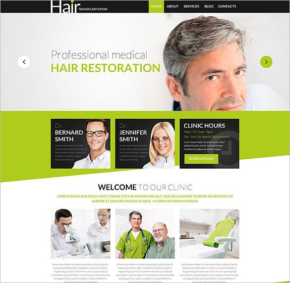 health psd template for hair